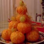 Piramide di mandarini