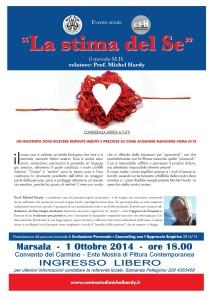 """Conferenza aperta su """"La stima del Sé"""" del prof. Michel Hardy @ Convento del Carmine di Marsala"""
