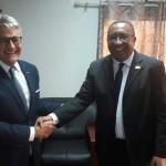 Da dx Vice Presidente Comore Djaffar Ahmed Hassani e Giovanni Tumbiolo
