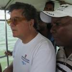 Un momento della missione congiunta. In primo piano il prof. Sebastiano Tusa