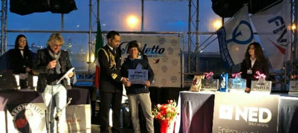 premiazione Marco Genna prima tappa Trofeo OptiSud 2018