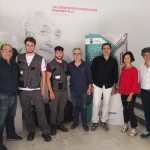 G55 - Da sin. Nino Zinnanti, i due neo assunti, Nicola Catania, Angelo Bulgarello, Maria Antonientta Cangemi