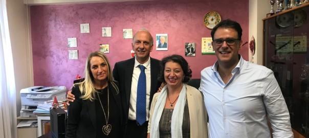 Da sinistra Francesca Bellia, Ministro Marco Bussetti, Graziamaria Pistorino e Claudio Parasporo