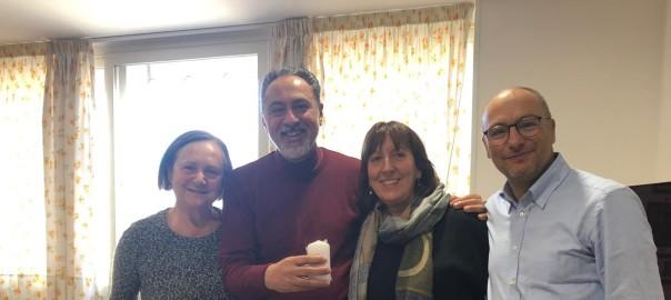 Foto Alberto alagna con Caterina Galletta, Angela Grassi e Vito Giannulo