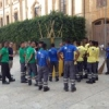 Un  gruppo di 40 extracomunitari al lavoro per la pulizia della città